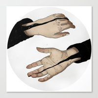 Hands In The Dark Canvas Print