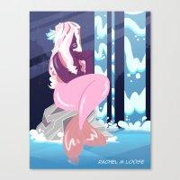 Purple Mermaid Canvas Print