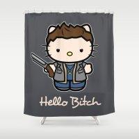 Hello Bitch Shower Curtain