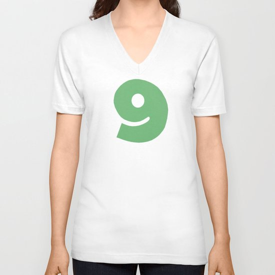 Number 9 V-neck T-shirt