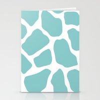 Sky Blue Giraffe Print Stationery Cards