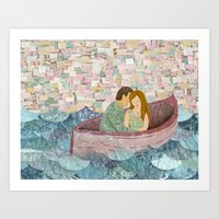 and they lived happily ever after Art Print