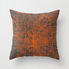 Indianapolis map Throw Pillow