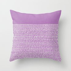 Riverside - Radiant Orchid Throw Pillow