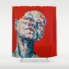 Red Hair Shower Curtain
