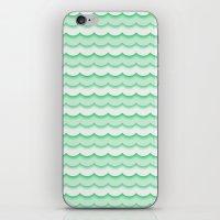 Green Waves iPhone & iPod Skin