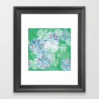 Retro Bloom Framed Art Print