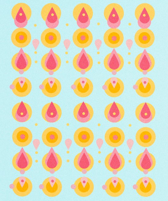 pineapple & ice cream Art Print