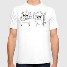 Monster Dialogues Mens Fitted Tee White SMALL