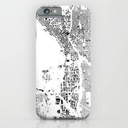 iPhone & iPod Case - Seattle Schwarzplan - City Map Art