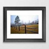 Along The Road Framed Art Print