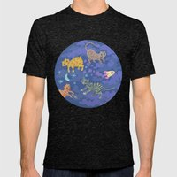 Astrocats Mens Fitted Tee Tri-Black SMALL