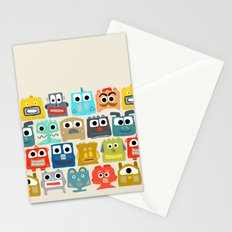summer baby robots Stationery Cards