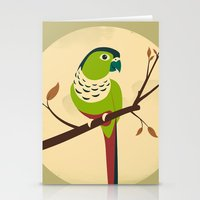 Green Cheek Conure Stationery Cards