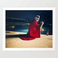 mexican luchador Art Print