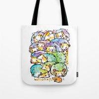 Hedgehog family Tote Bag