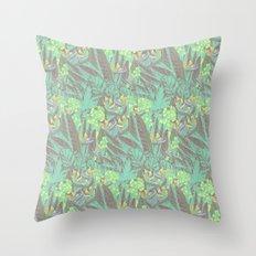 Tropical Paradise: Jade Jungle Throw Pillow