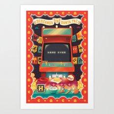 Ofrenda a las arcades Art Print