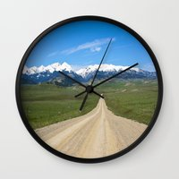 Old Country Road Wall Clock