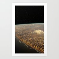 Earth Space Art Print