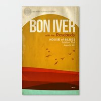 Custom Bon Iver Concert … Canvas Print