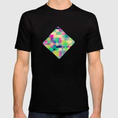 Pixeland Mens Fitted Tee Black SMALL