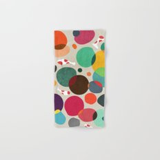 Lotus in koi pond Hand & Bath Towel