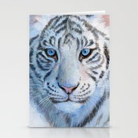 White Tiger Cub 852 Stationery Cards