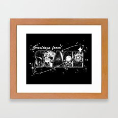 Greetings From Space Framed Art Print