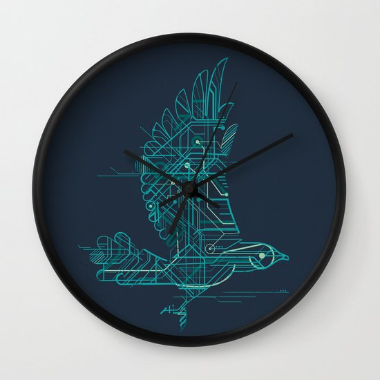 Wind-Up Bird Wall Clock