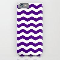 Wavy Stripes (Indigo/White) iPhone 6 Slim Case