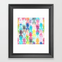 Hawaiian Pineapple Patte… Framed Art Print