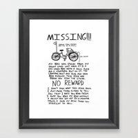 MISSING!!! Framed Art Print
