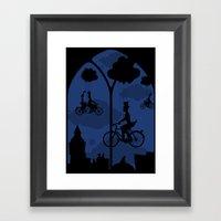 Let's Go Fly A Bike Framed Art Print