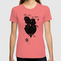 Some People Are Worth Me… Womens Fitted Tee Pomegranate SMALL