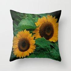 Sonnen Blumen  Throw Pillow