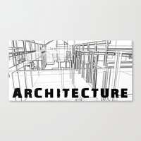 Architecture - White Canvas Print