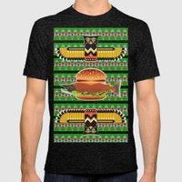 Alaska Burger Mens Fitted Tee Tri-Black SMALL