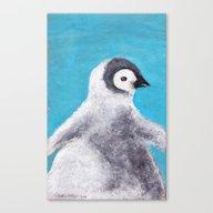 Cotton Penguin Canvas Print