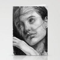 Angelina Jolie Traditional Portrait Print Stationery Cards