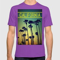 CALIFORNIA Mens Fitted Tee Ultraviolet SMALL