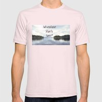 Adventure Starts Now! Al… Mens Fitted Tee Light Pink SMALL
