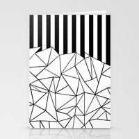 Abstract Outline Stripes… Stationery Cards