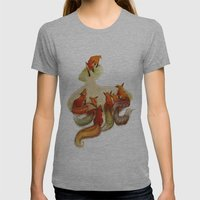 Aesop's Fable - The Fox … Womens Fitted Tee Athletic Grey SMALL