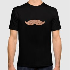 mustache Mens Fitted Tee Black SMALL