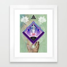 Peace In The Palm Of Your Hand - Digital Collage Art Print Framed Art Print