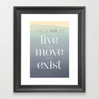 live / move / exist Framed Art Print