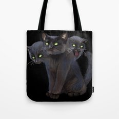 3 HEADED KITTY Tote Bag