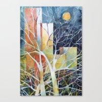Le torri e la luna Canvas Print