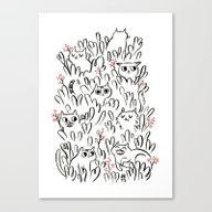 Kitty Forest Canvas Print